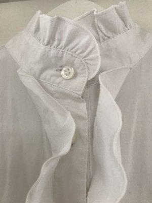 Comma Ruffled Blouse white