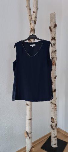 Comma Short Sleeved Blouse dark blue