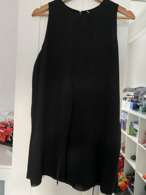 COS Bluzka z krótkim rękawem czarny
