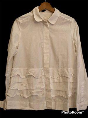 COS Blusa de manga larga blanco
