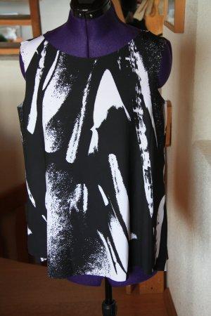 COS Sleeveless Blouse white-black polyester