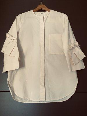 COS Bluzka z krótkim rękawem kremowy-w kolorze białej wełny