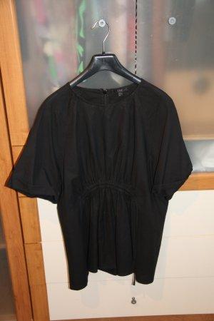COS Slip-over Blouse black cotton