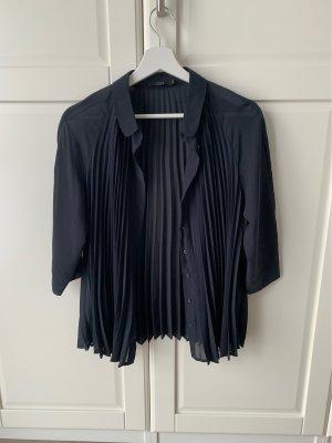 COS Silk Blouse dark blue