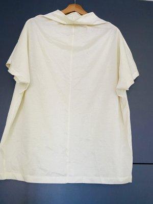 COS Bluzka z krótkim rękawem jasnożółty-jasnobeżowy