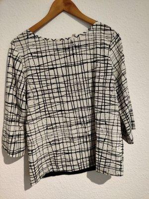 Friendtex Short Sleeved Blouse white-black