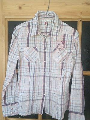 QS by s.Oliver Blouse à carreaux rose clair-blanc coton