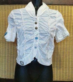 Elisa Cavaletti Short Sleeved Blouse white