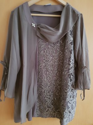 Fair Lady Lace Blouse silver-colored-light brown