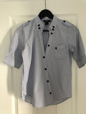 Bluse von Filippa K , Gr.S , weiß /blau