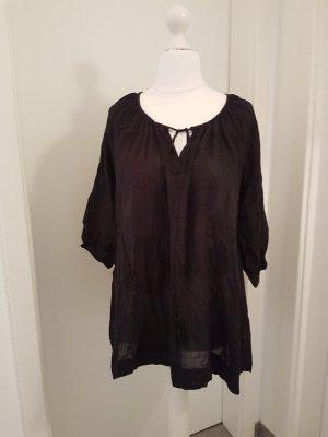 Fransa Tunique-blouse noir coton