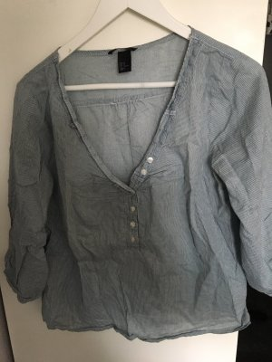 H&M Slip-over Blouse natural white-slate-gray