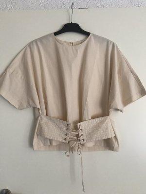 Bluse von H&M Creme Oversize