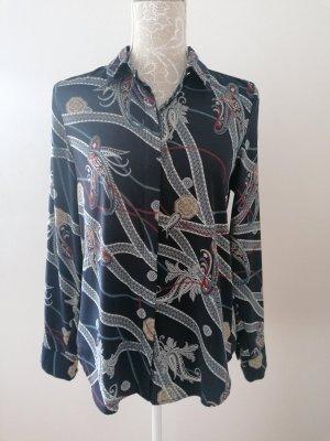 H&M Long Sleeve Blouse dark blue