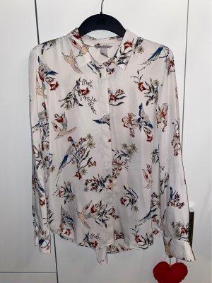 H&M Blusa brillante crema-bianco