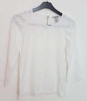 H&M Oversized blouse wit-wolwit