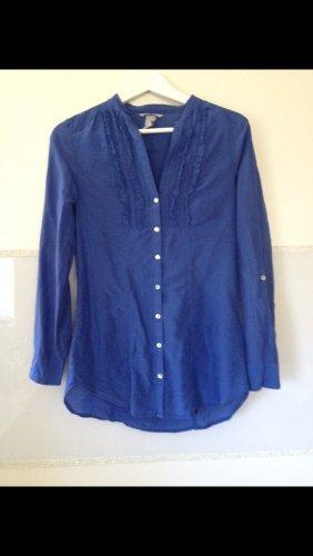 Bluse von H&M in blau mit Rüschchen Größe XS