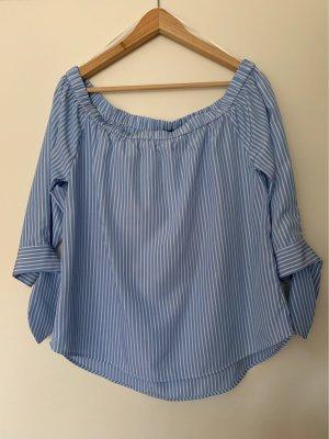 Hallhuber Carmen blouse azuur-wit