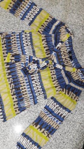 Jette Joop Slip-over blouse lichtgeel-blauw