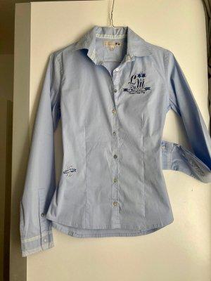 La Martina Long Sleeve Blouse azure-light blue