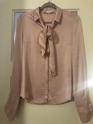 Lala Berlin Blusa collo a cravatta rosa pallido