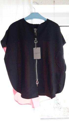 Liebeskind Short Sleeved Blouse dark green-neon pink polyester