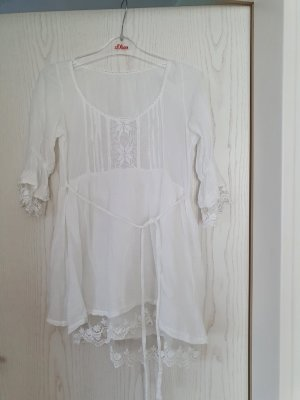Made in Italy Kanten blouse wit