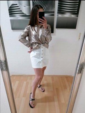 Bluse von Mango, Gold, Metallic, Größe M, Neuwertig