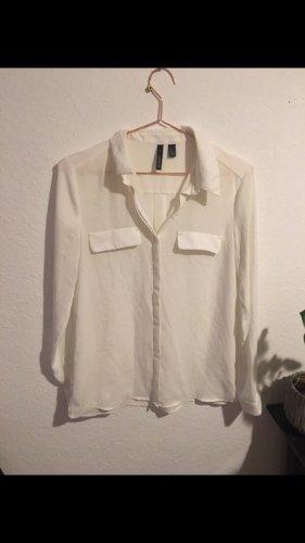 Bluse von Mango Groesse S weiß