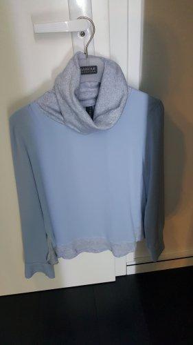 marc cain sports Blouse avec noeuds gris clair-bleu azur