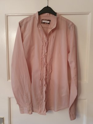 Marc O'Polo Ruffled Blouse dusky pink cotton