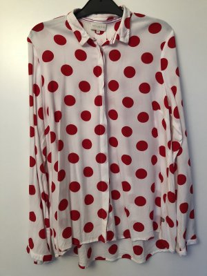 Bluse von Milano Größe 40/38 rot gepunktet