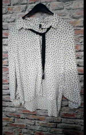 Veste chemisier blanc-noir