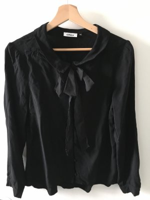 Only Tie-neck Blouse black