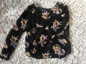 Only Kanten blouse veelkleurig