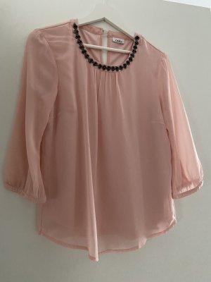 Only Zijden blouse rosé