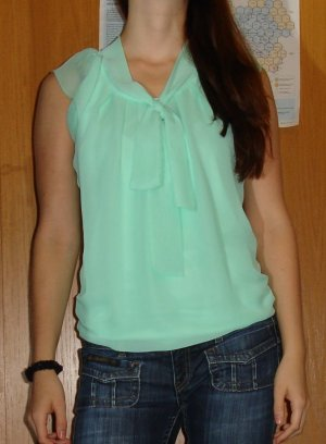 Only Tie-neck Blouse mint