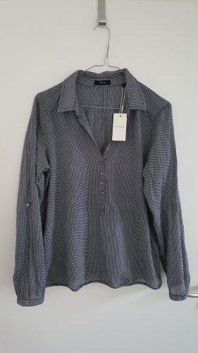 Bluse von Opus, Langarm, schwarz/weiß gemustert, Gr. 40