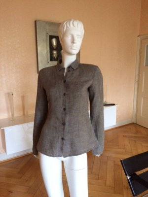 Linen Blouse taupe-grey brown linen