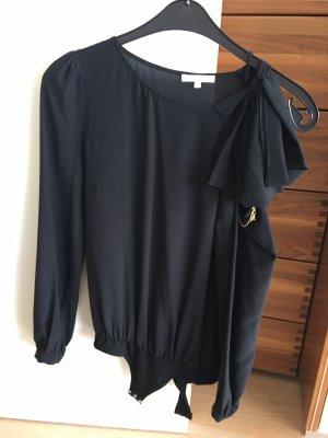 Patrizia Pepe Jedwabna bluzka czarny