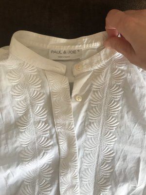 Paul & Joe Blusa de cuello alto blanco