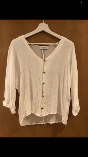 Pieces Long Sleeve Blouse white