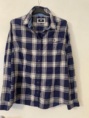 Polo sylt Shirt Blouse white-dark blue