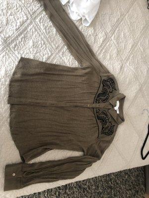 Promod Blusa de manga larga caqui-negro