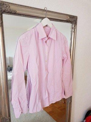 Bluse von Q1 rosa/weiß gemustert in XS /34 - Wiesn-Bluse!
