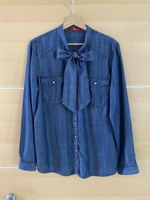 s.Oliver Blouse en jean bleu foncé-bleu