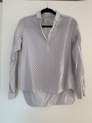Bluse von The Savile Row Company Hellblau mit Vogelprint Größe S