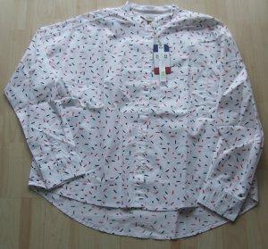 Tommy Jeans Blouse met opstaande kraag wit