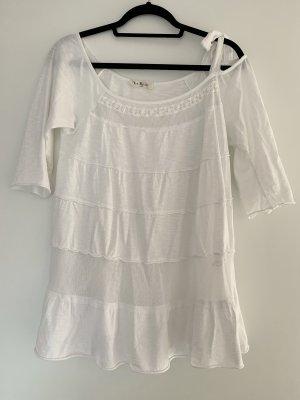 Bluse von V Milano Größe S M 36 38 Weiß