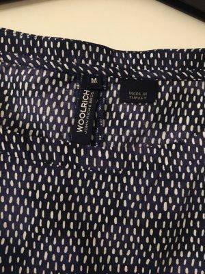Woolrich Blouse à manches courtes blanc-bleu foncé
